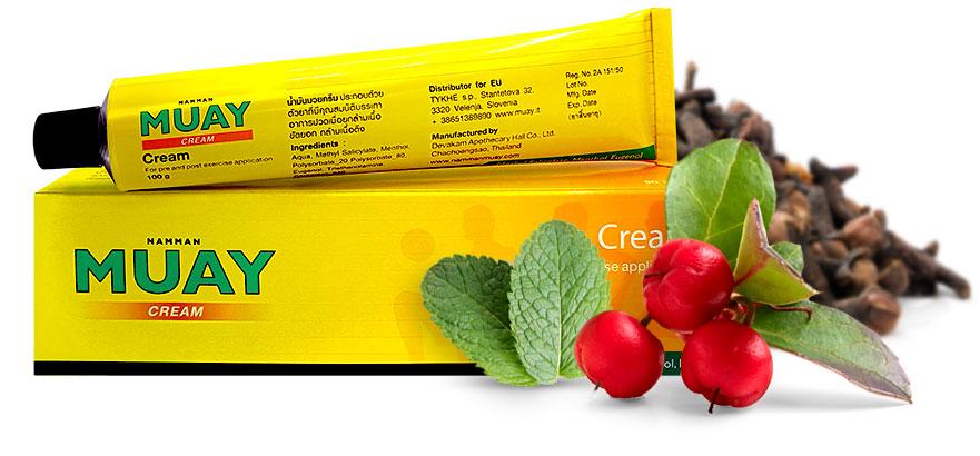 Namman Muay Cream with ingredient